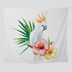 Tropical Cockatoo Wall Tapestry
