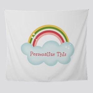 Personalized Cute Rainbow Wall Tapestry