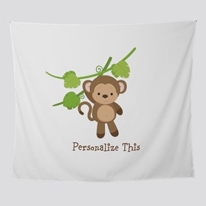 Little Monkey Personalized Wall Tapestry
