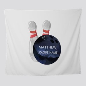 Personalized Bowling League Wall Tapestry