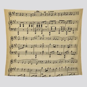 Antique Sheet Music Wall Tapestry