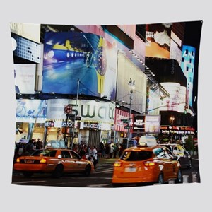NYC at Night Wall Tapestry