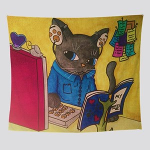Maine Coon Writer Cat 2 Wall Tapestry