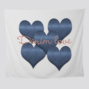 Cool Denim Love Wall Tapestry