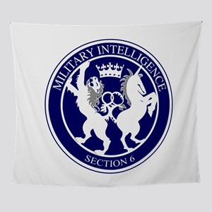 MI6 Logo Button Wall Tapestry