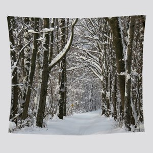 Snow trail Wall Tapestry