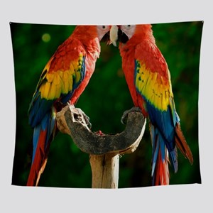 Beautiful Parrots Wall Tapestry
