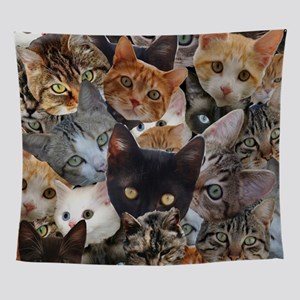 Kitty Collage Wall Tapestry