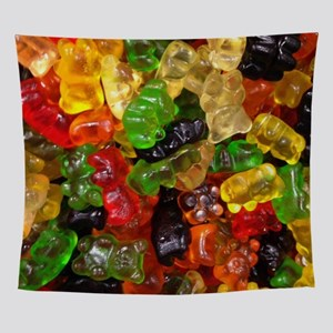 rainbow candy gummy bear Wall Tapestry