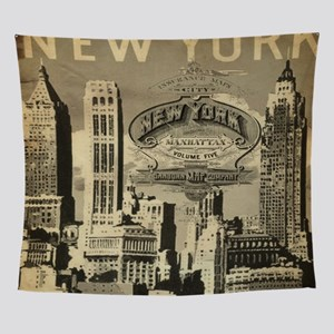 Vintage USA New York Wall Tapestry