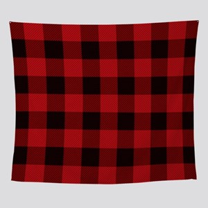 Cottage Buffalo Plaid Lumberjack Wall Tapestry