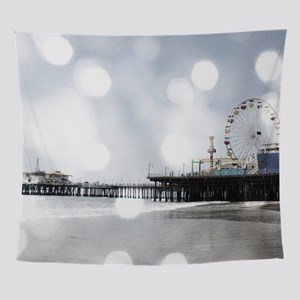 Grey Sparkling Pier Wall Tapestry