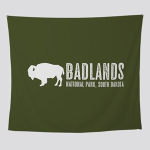 Bison: Badlands, South Dakota Wall Tapestry