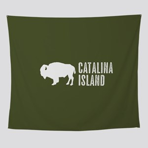 Bison: Catalina Island Wall Tapestry