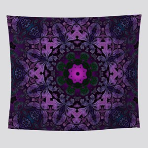 Gothic vintage purple abstract bohem Wall Tapestry