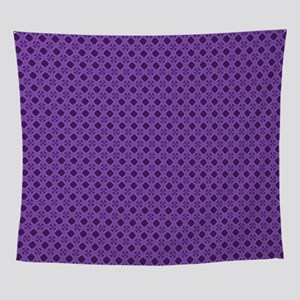 Diamond Curves Purple Shades Wall Tapestry