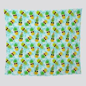 Christmas Pineapples Wall Tapestry