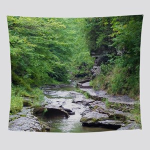 forest river scenery Wall Tapestry
