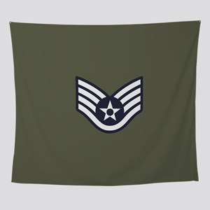 USAF: SSgt E-5 (Green) Wall Tapestry