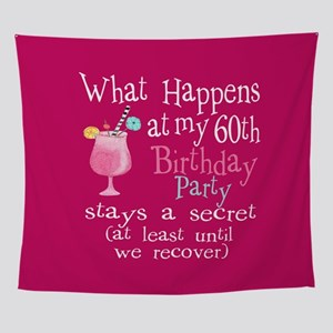 Fun 60th Birthday Party Wall Tapestry