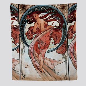 Alfons Mucha 1898 Dance Wall Tapestry