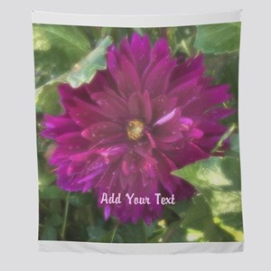 Personalized Dahlia Flower Wall Tapestry