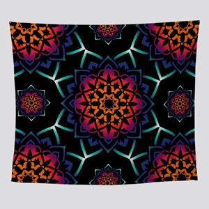 'Bohemian Illusion' Blue Purple Pink Wall Tapestry