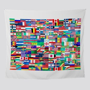 World Flag Collage Wall Tapestry