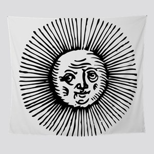 Old Sun - Blk Wall Tapestry