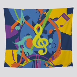 Bright Abstract music design Wall Tapestry
