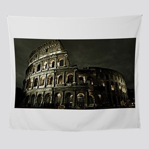 Coliseum At Night Wall Tapestry