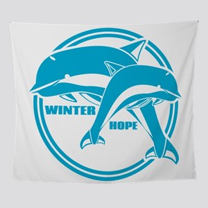 Dolphin Tale Winter and Hope Wall Tapestry