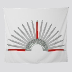 Pen in red Wall Tapestry
