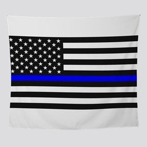 Thin Blue Line - USA United States A Wall Tapestry