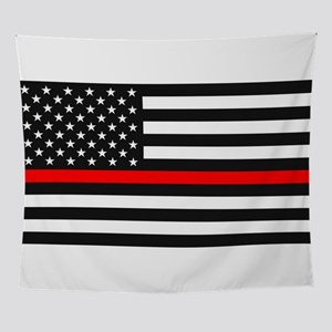 Thin Red Line - American United Stat Wall Tapestry