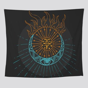 Sun And Moon Wall Tapestry
