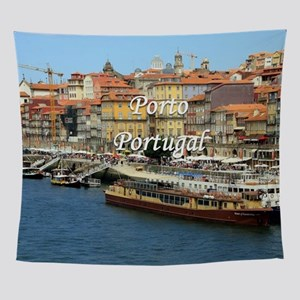 Porto, Portugal (caption) Wall Tapestry