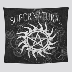 Supernatural Black Wall Tapestry