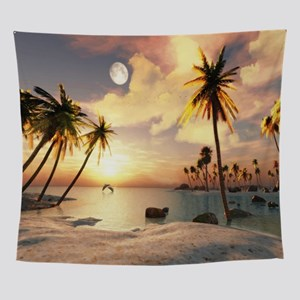 Tropical Beach Wall Tapestry