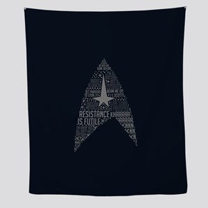Star Trek Quotes Insignia Wall Tapestry