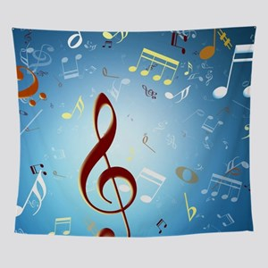 Musical Notes Wall Tapestry