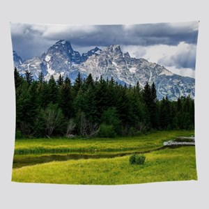 Mountains,River and Forest Landscape Wall Tapestry
