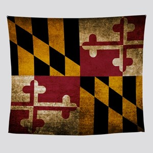 Vintage Flag of Maryland Wall Tapestry