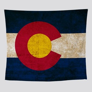 Vintage Flag of Colorado Wall Tapestry