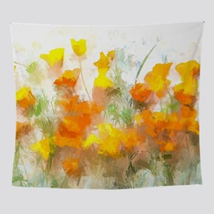 Sunrise Poppies II Wall Tapestry