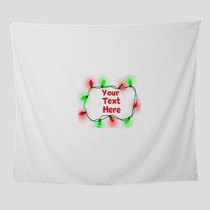 Custom Christmas Lights Wall Tapestry