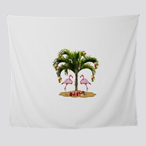 Tropical Christmas Holiday Wall Tapestry