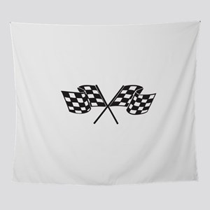 Checkered Flag, Race, Racing, Motors Wall Tapestry