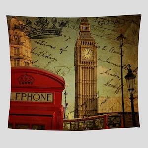 92caa7f17 vintage London UK fashion Wall Tapestry