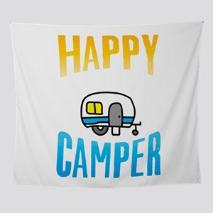 Camping Camp Happy Camper Outdoor Ca Wall Tapestry